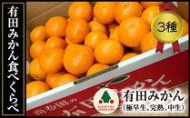 【頒布会】有田みかん・食べくらべ3種(特秀/各5kg×3回コース)【南泰園】
