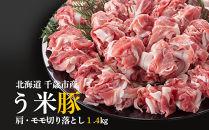 千歳産う米豚(うまいとん)肩・モモ切り落としセット<肉の山本>