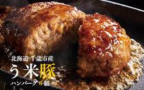 千歳産う米豚(うまいとん)ハンバーグ6個セット<肉の山本>