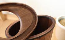 旭川家具 ササキ工芸天然木 くずかご楕円 L ウォールナット