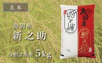 【玄米】中魚沼産「新之助(しんのすけ)」5kg(令和2年産)