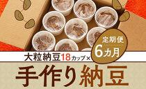 【定期便6カ月連続】農薬・化学肥料不使用 手作り納豆