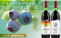 ◆ふるさと納税・非売品◆ブルーベリーワイン2016・2017飲み比べセット<アイケイファーム余市>