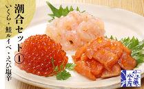 〈佐藤水産〉潮合セット①いくら・鮭ルイベ・えび塩辛