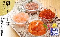 〈佐藤水産〉潮合セット③鮭ルイベ・いくら・いか塩辛・えび塩辛