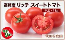糖度9度以上!高糖度リッチスイートトマト(1kg)《秋田谷農園》