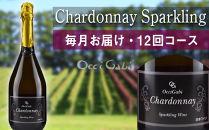【OcciGabiWinery】☆12回コース☆リピーター続出!シャルドネ・スパークリング・ワイン毎月お届け