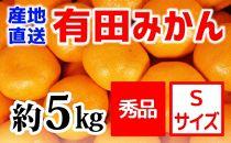 【産地直送】有田みかん秀品約5kg(Sサイズ)紀州グルメ市場
