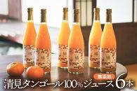 永沼農園の無添加果汁100%みかんジュースセット(清見タンゴール)6本入り