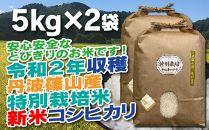 新米!抜群の味と香り 特別栽培米 丹波篠山産コシヒカリ5kg×2