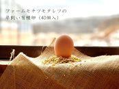 ファームモチツモタレツの平飼い有精卵(40個入)