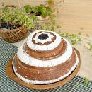 黒糖味の国宝パン<直径21センチ730g>【天然パン工房楽楽】
