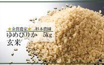 FF018★金賞農家★が作る「ゆめぴりか(玄米)」5kg《杉本農園》