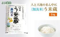 【無洗米】北海道産う米蔵5kg【JA道央】