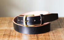 【幅35mm/32インチ】栃木レザーの中でも希少な「ハーネスレザー」使用贅沢な1枚革のレザーベルトブラック全7色HL-B02/BLACK