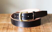 【幅35mm/38インチ】栃木レザーの中でも希少な「ハーネスレザー」使用贅沢な1枚革のレザーベルトブラック全7色HL-B02/BLACK