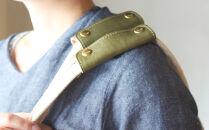 【2本セット】栃木レザーハンドルカバー全7色オリーブ重さ軽減や汚れ防止に!エコバックやキャンバスバッグの持ち手がおしゃれに。