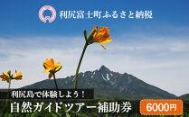 利尻島で体験しよう!自然ガイドツアー補助券(6000円)