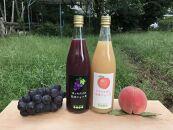 白桃ジュースと桃のセミドライフルーツ&巨峰ジュースと藤稔のセミドライフルーツセット
