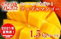 【2021年夏発送】のはらファーム完熟マンゴー1.5kg(3〜4玉)