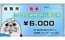 紋別市ふるさと納税旅行商品券 6,000円分