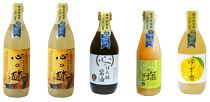 優秀味覚賞受賞 逸品「純米心の酢」とぽん酢ギフト5本セット