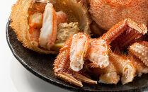 【北海道産】ボイル毛蟹(600g前後×2尾)<上平水産>