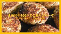 土佐和牛100%てこねハンバーグ デミソース付き(200g×10個)