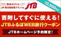 【能登町】JTBふるぽWEB旅行クーポン(12,500円分)
