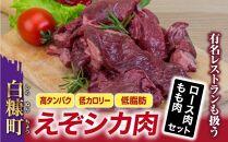 【新型コロナ被害支援】高タンパク・低カロリー・低脂肪 えぞシカ肉セット(ブロック肉)