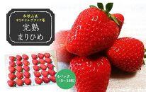 (2021年3月発送)完熟まりひめ 約1.6kg(9~18粒入×4パック)(和歌山県オリジナルブランド苺)