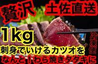 【ギフト用】冷凍脂カツオ【1kg】