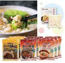 SK06-17【資さん】もつ鍋・ビーフカレー・牛丼・豚汁セット<オリジナル石けん1個付>