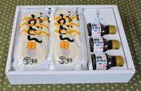 【ギフト用】手延べ半生こびきうどん9袋入り特製ぶっかけ醤油付