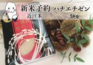 ◆【新米予約・令和3年(2021)産】農家直送近江米ハナエチゼン5kg×1袋精米済