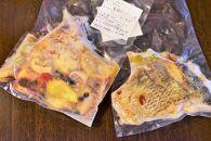屋久島の食材を使ったロールピッツァとアクアパッツァのセット