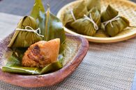 肉粽(ちまき)・黒豆茶・黒玄米茶セット