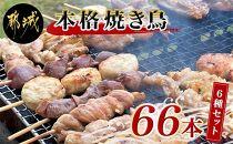 職人串打ちの本格焼き鳥66本!!