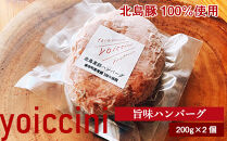 北島豚100%使用!ヨイッチーニ旨味ハンバーグ200g×2個〈ヨイッチーニ〉