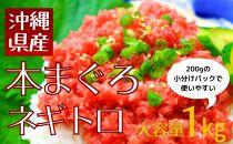 沖縄県産本まぐろネギトロセット1kg(200g×5パック)