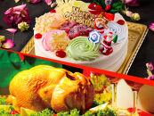 クリスマス限定!ケーキ&チキンセット「カラフルXmasケーキ&丸ごとチキン」