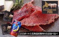 《おうちで晩酌♪》ハイボールと北海道産豚肉の缶詰食べ比べセット