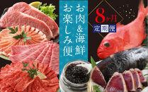お肉&海鮮 お楽しみ定期便(8回コース)<高知県・高知市共通返礼品>【ポイント交換専用】