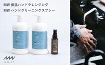 KF04-10手洗いクレンジングと手指のアルコールスプレー|癒しの香りMWセット