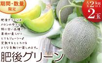 【ポイント交換専用】肥後グリーンメロン大玉限定!ネット系メロン
