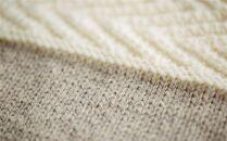 ≪生成り×オートミール≫【気仙沼ニッティング】手編みセーター「エチュード」Sサイズ(女性標準サイズ)