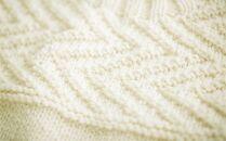 ≪生成り≫【気仙沼ニッティング】手編みセーター「エチュード」Mサイズ(男性標準サイズ)