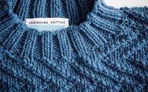 ≪春の海≫【気仙沼ニッティング】手編みセーター「エチュード」Mサイズ(男性標準サイズ)