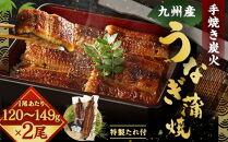 FY07-13九州産手焼き炭火うなぎ蒲焼2尾(1尾あたり120~149g)