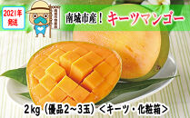 【2021年発送】キーツマンゴー2kg(化粧)優品2玉~3玉